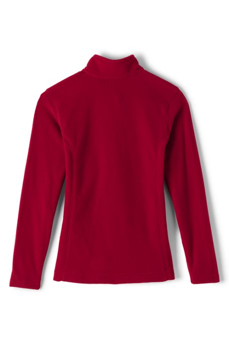 Girls Lightweight Fleece Quarter Zip Pullover