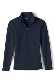 School Uniform Girls Lightweight Fleece Half Zip