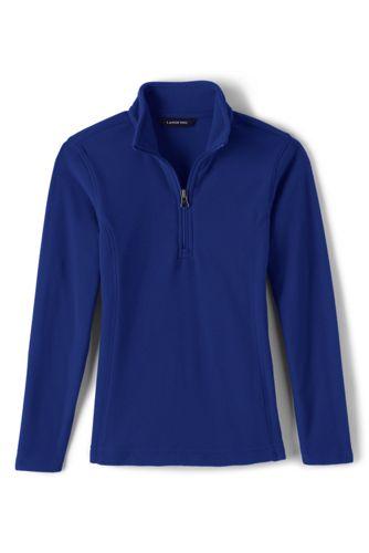 45b4e734251 School Uniform Girls Lightweight Fleece Half Zip