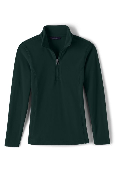 Little Girls Lightweight Fleece Quarter Zip Pullover