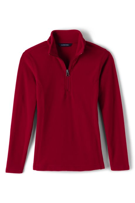 School Uniform Girls Lightweight Fleece Quarter Zip Pullover
