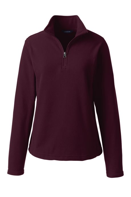 School Uniform Women's Lightweight Fleece Quarter Zip