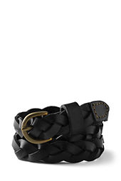 Girls' Thin Braided Leather Belt