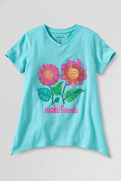 Girls' Short Sleeve Make Friends Curved Hem Graphic T-shirt