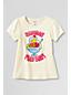Le T-Shirt Graphique Dimanche Jour de Folie Bord Picot Fille