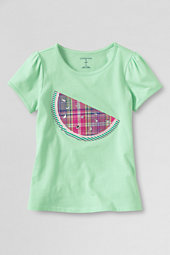 Girls' Picot Edge Watermelon Graphic Tee
