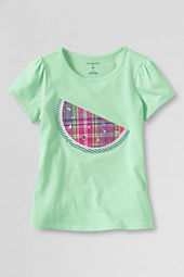 Girls' Short Sleeve Picot Edge Watermelon Graphic T-shirt