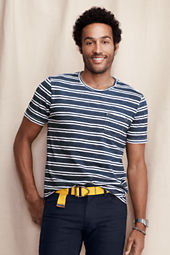 Men's Striped Indigo Pocket Tee