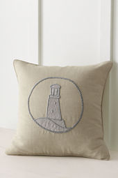 "18"" x 18"" Metallic Lighthouse Decorative Pillow or Insert"