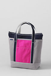 Colorblock Zip Top Totes