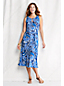 Women's Regular Patterned Keyhole Dress