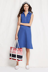 Women's Sleeveless Mesh Polo Dress