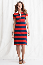 Women's Stripe Pique Polo Dress