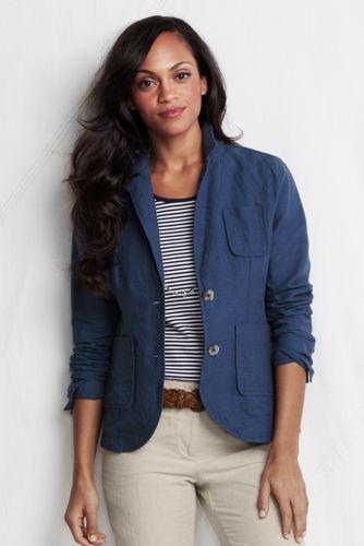Leinen/Baumwoll-Blazer für Damen