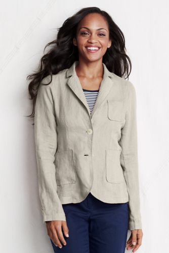 Le Blazer Lin et Coton Femme, Taille Standard