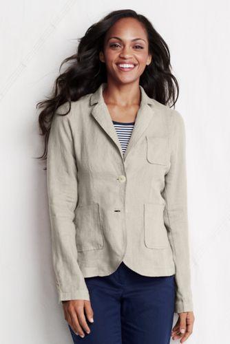 Casual Cotton Blazer For Women Women's Linen/cotton Blazer