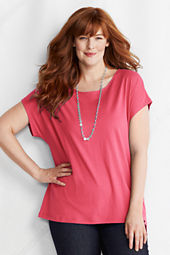 Women's Short Sleeve Lightweight Jersey Dolman Tee