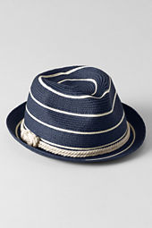Girls' Stripe Fedora Hat