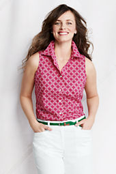 Women's Sleeveless Button-front Shell
