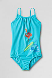 Girls' Hula Splash Flamingo Graphic One Piece Swimsuit