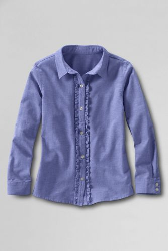 Little Girls' Ruffle Placket Shirt