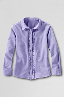 Girls' Ruffle Placket Shirt
