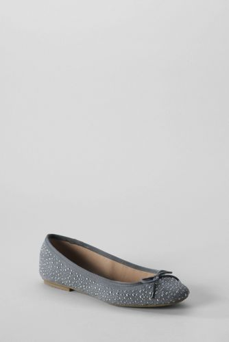 Women's Regular Bianca Patterned Bow Ballet Shoes