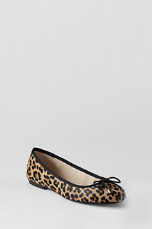 Women's Bianca Patterned Bow Ballet Shoes