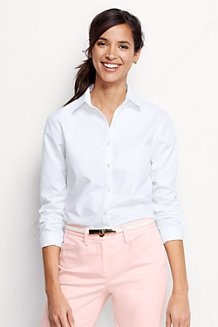 Women's Long Sleeve Plain Supima Non-Iron Shirt