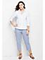 Bügelfreie Supima-Bluse für Damen in Plusgröße