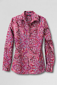 Women's Non-iron Supima® Patterned Shirt