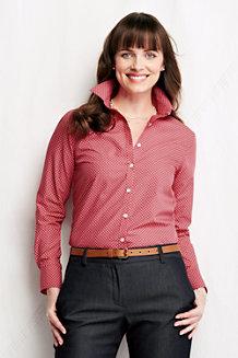 Women's Non-iron Supima® Patterned Shirt
