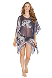 Women's Burnout Poncho Cover-up