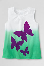 Girls' Chalkboard Butterfly Graphic Twisted Tank Top