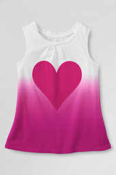 Girls' Chalkboard Heart Twisted Graphic Vest Top