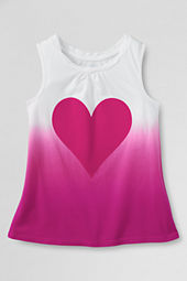 Girls' Chalkboard Heart Graphic Twisted Tank Top