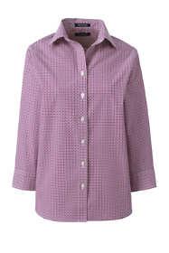 Women's Tall 3/4 Sleeve Pattern Broadcloth Shirt