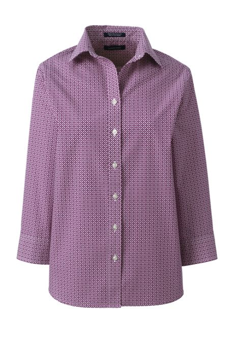 Women's Tall 3/4 Sleeve Pattern Broadcloth Shirt
