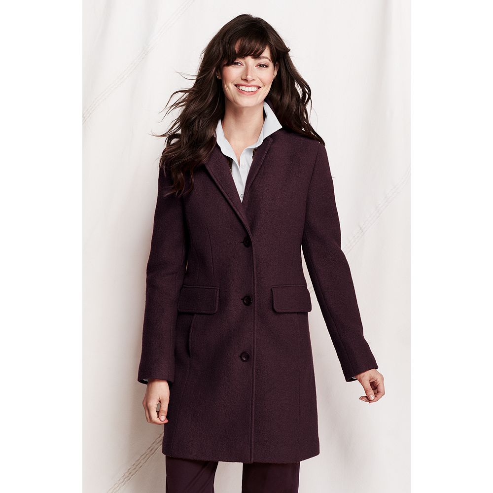 Lands' End Women's Tall Boiled Wool Walker Coat at Sears.com