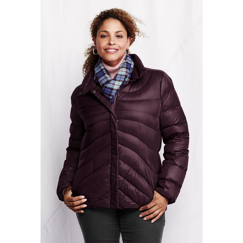 Lands' End Women's Plus Size Featherlight Down Jacket at Sears.com