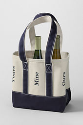 Six Bottle Canvas Wine Tote