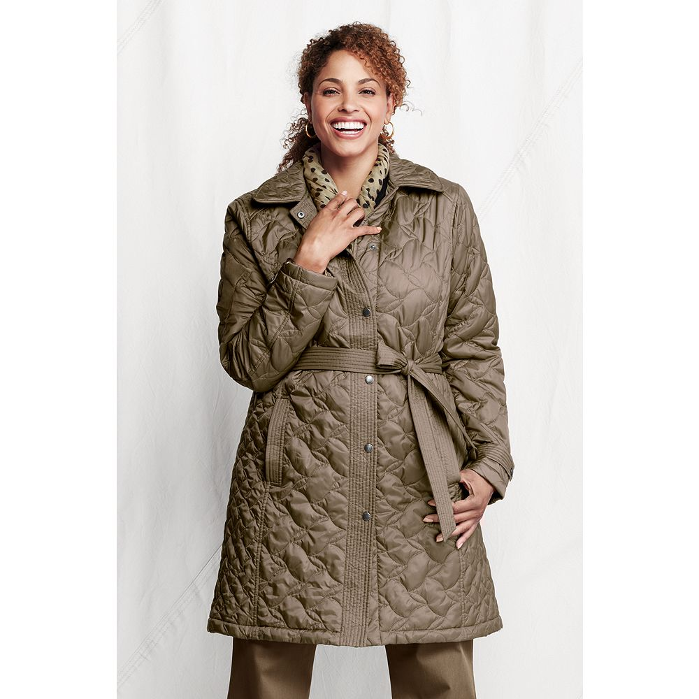 Lands' End Women's Plus Size Quilted Insulator Coat at Sears.com