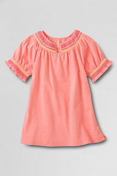 Girls' Smocked Neck Neon T-shirt