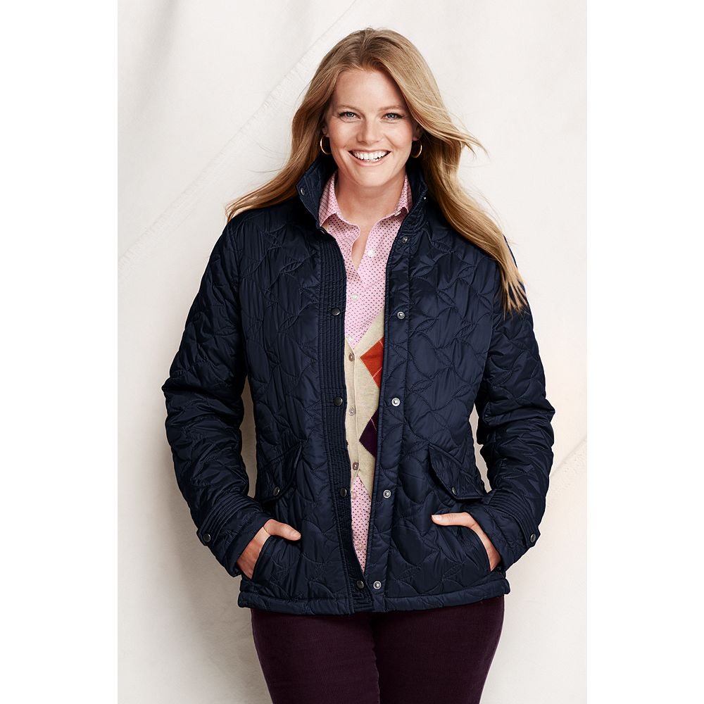 Lands' End Women's Plus Size Quilted Insulator Jacket at Sears.com