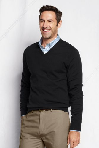 Offerta: Lands' End Men's Regular Merino V-neck Sweater