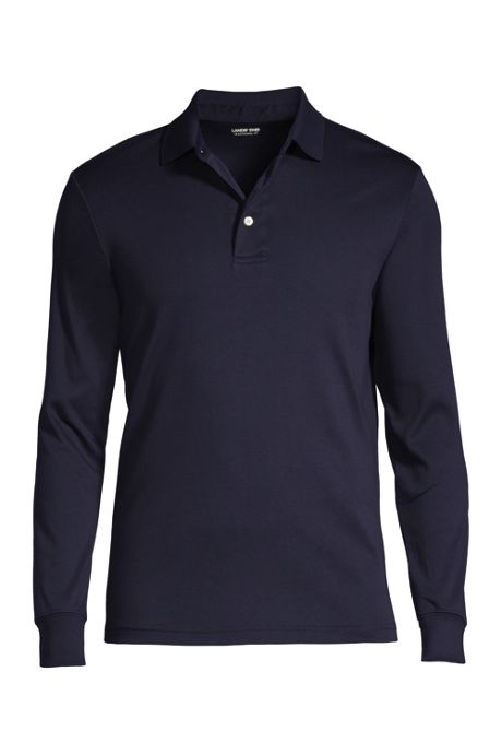 Men's Long Sleeve Supima Interlock Polo Shirt