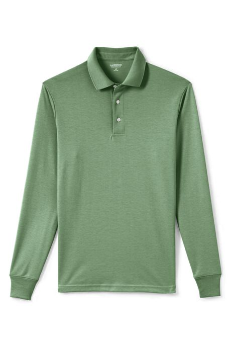 Men's Big & Tall Long Sleeve Supima Interlock Polo Shirt