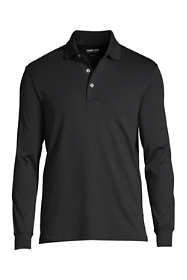 Men's Big and Tall Long Sleeve Super Soft Supima Polo Shirt