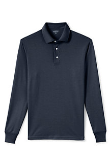 Men's Tailored Fit Supima® Polo - Long Sleeve