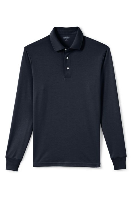 Men's Big and Tall Long Sleeve Supima Polo Shirt